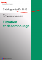 Filtration catalogue temiq 2016